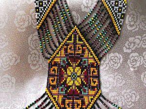 Бисерное ткачество: создаем красочный гердан | Ярмарка Мастеров - ручная работа, handmade