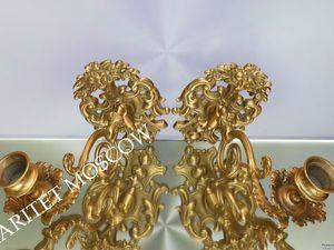 Подсвечник рояльный бронза латунь Франция 5 | Ярмарка Мастеров - ручная работа, handmade
