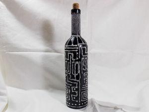 Декорируем бутылку манной крупой: видео мастер-класс. Ярмарка Мастеров - ручная работа, handmade.