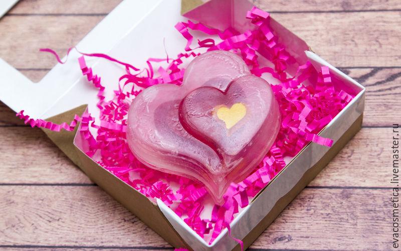 расписное мыло, валентинка