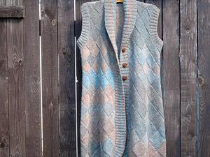 Новинка в магазине - длинный вязаный жилет. Ярмарка Мастеров - ручная работа, handmade.
