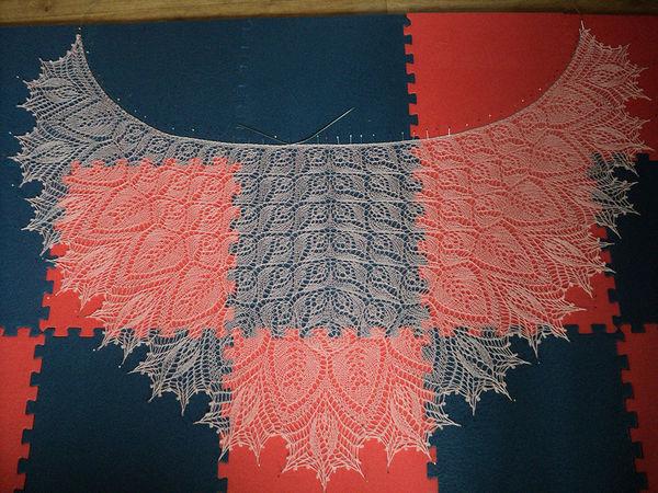 Мастер-класс: блокировка ажурной шали | Ярмарка Мастеров - ручная работа, handmade