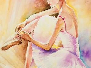 Новая Картина Балерина. Ярмарка Мастеров - ручная работа, handmade.