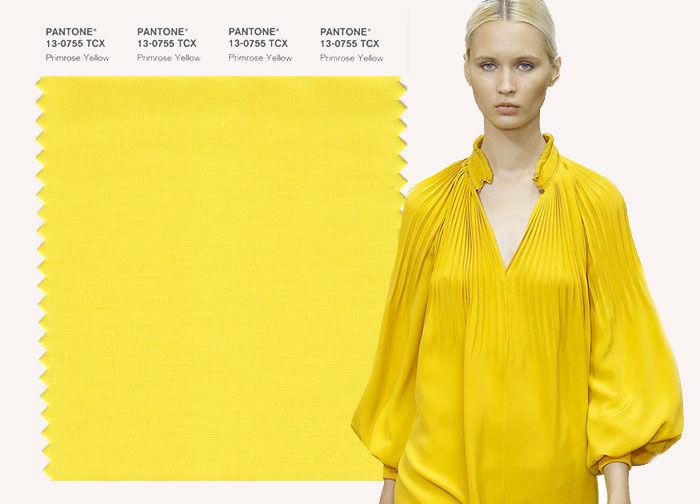 желтый, мода