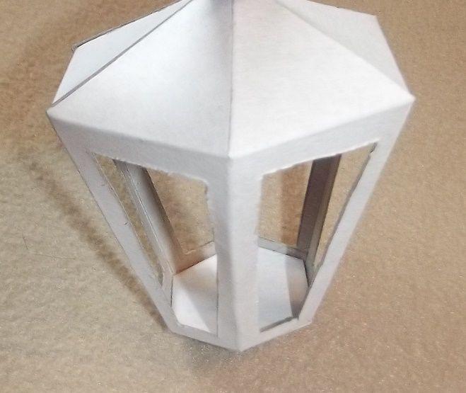 Как сделать фонарик квадратны из бумаги