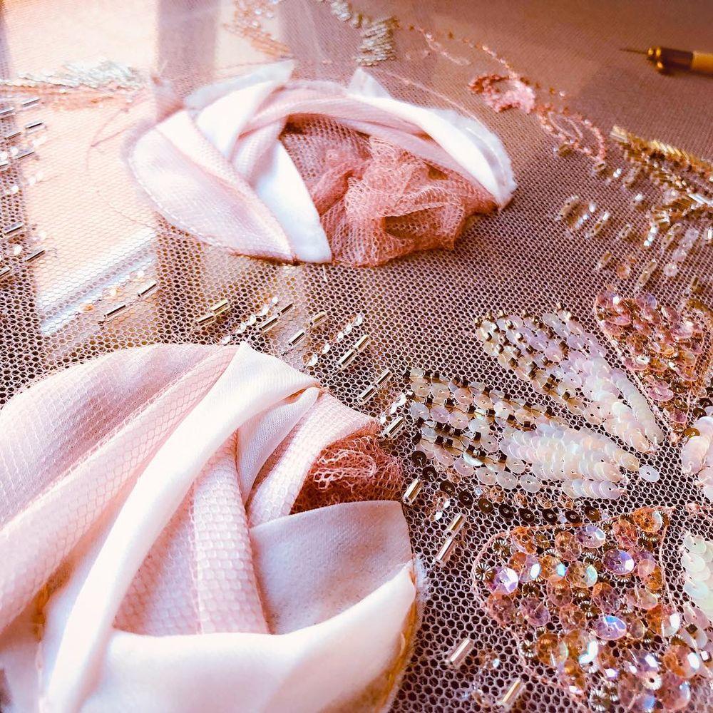 Узор Annees50 для обучения вышивке в Школе Лесаж (Париж)