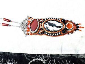 ЗАКРЫТ ! Быстрый аукцион на кулон с зебровой яшмой и сердоликом. Ярмарка Мастеров - ручная работа, handmade.