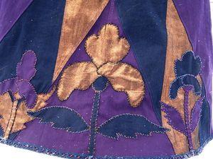 Дизайнерская джинсовая макси-юбка  «Окрылённые цветы». Ярмарка Мастеров - ручная работа, handmade.