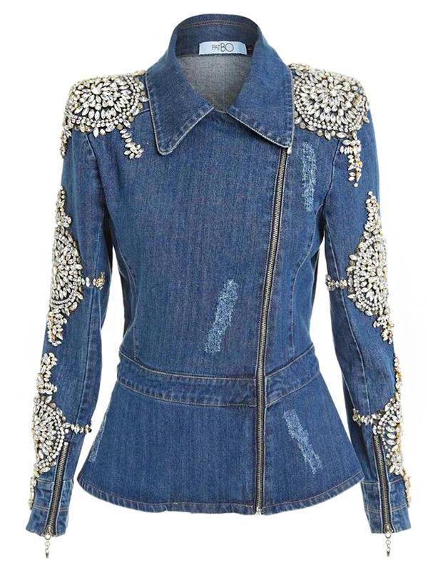 Многообразный декор джинсовых курток: 50 интересных вариантов, фото № 30