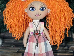 Куколка Булибошечка. Рыжулька веселая девчушка. | Ярмарка Мастеров - ручная работа, handmade