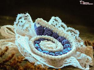 How to Make a Boho Crochet Brooch in Freeform Technique. Livemaster - handmade