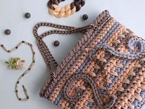 Новая сумка из трикотажной пряжи. Ярмарка Мастеров - ручная работа, handmade.