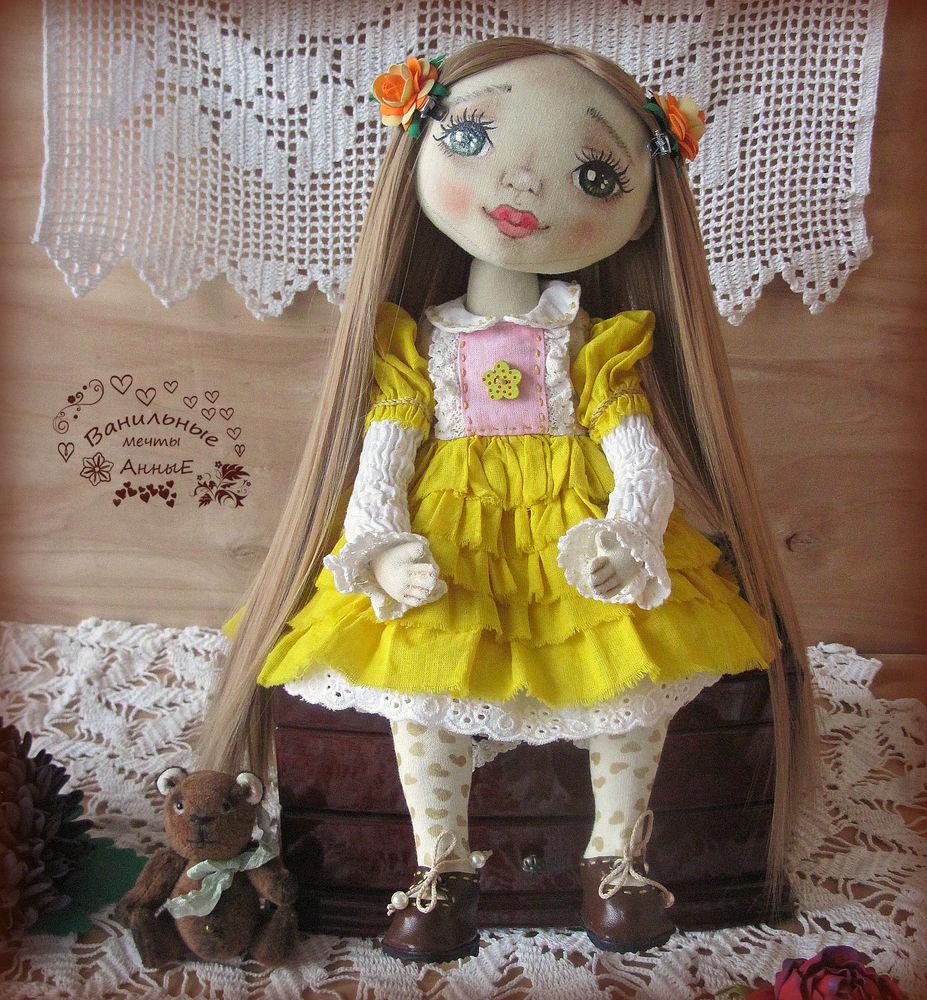 кукла ручной работы, подарок на новый год