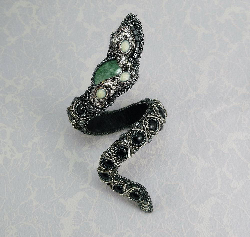 змейка, браслет ручной работы