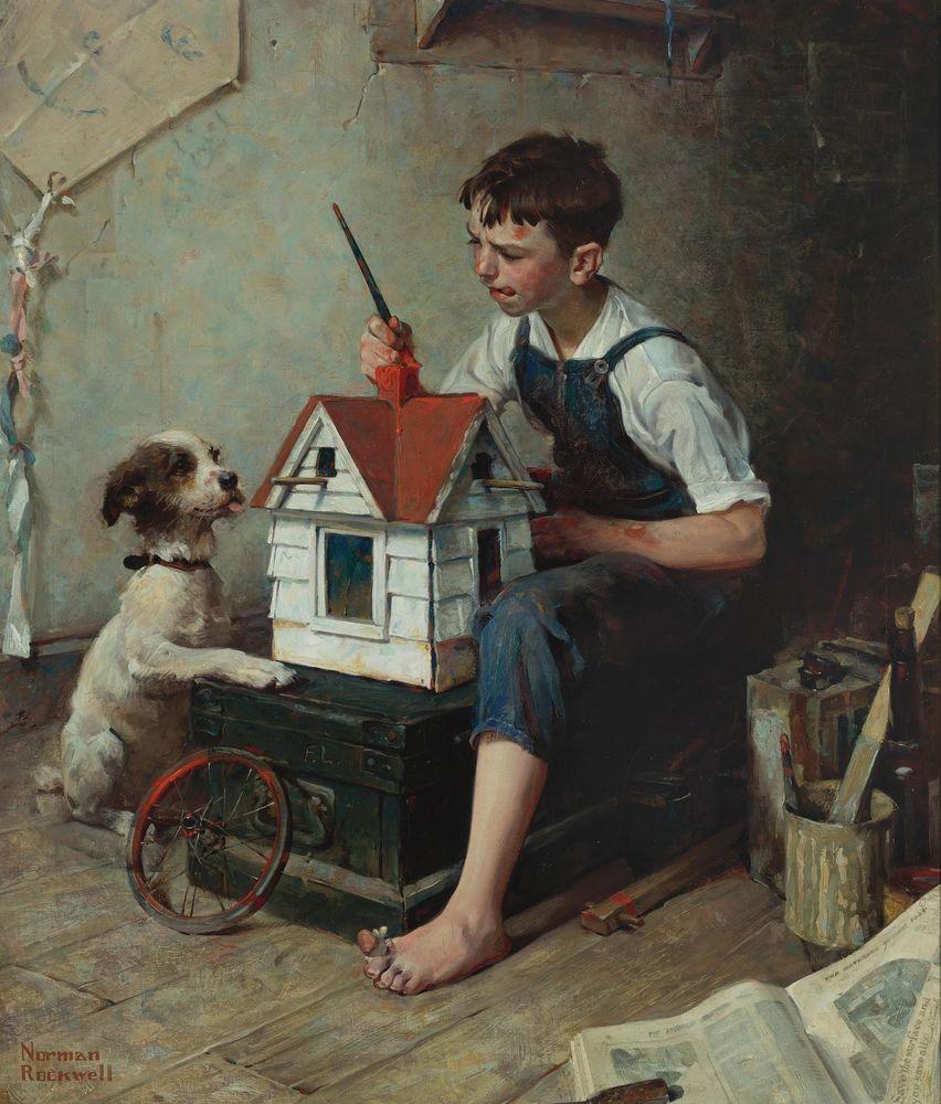 Дети в творчестве американского художника Norman Rockwell | Журнал ...
