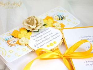 Подарочный сертификат в конверте | Ярмарка Мастеров - ручная работа, handmade