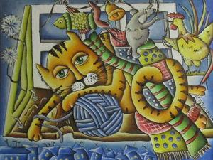 Коты в живописи. Ярмарка Мастеров - ручная работа, handmade.