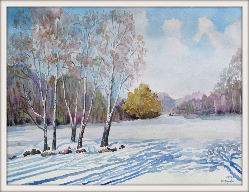 черная пятница, скидка 20%, картина акварелью, пейзаж, авторская картина, купить картину недорого, купить в москве, акварельная живопись, зимний пейзаж, ярмарка мастеров, ручная авторская работа