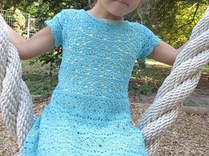 Видео мастер-класс: детское платье «Лилии» крючком. Ярмарка Мастеров - ручная работа, handmade.