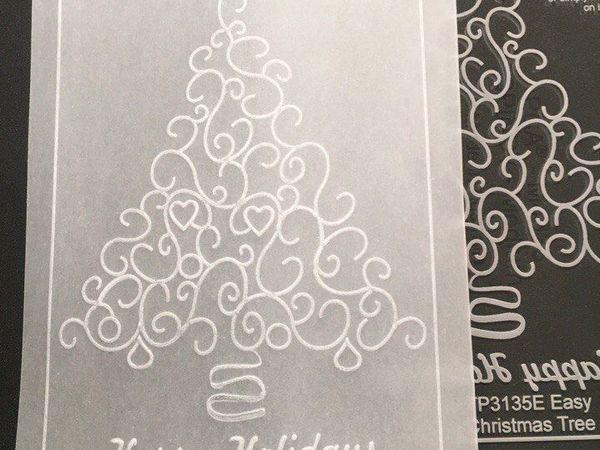 Новогодняя открытка в технике Парчмент Крафт для начинающих | Ярмарка Мастеров - ручная работа, handmade