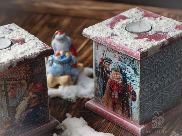Короба-подсвечники для Ольги.   Ярмарка Мастеров - ручная работа, handmade