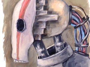 Творческий ежедневник. День 17. Этюд «Робот-2». Ярмарка Мастеров - ручная работа, handmade.