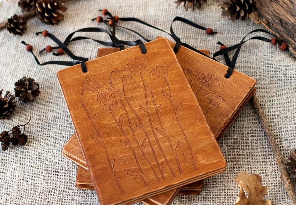 деревянный блокнот, крафт блокнот, таша и сергей