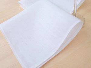 Салфетки белые льняные.. Ярмарка Мастеров - ручная работа, handmade.