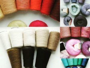 Ассортимент пряжи для заказа шали или палантина.. Ярмарка Мастеров - ручная работа, handmade.