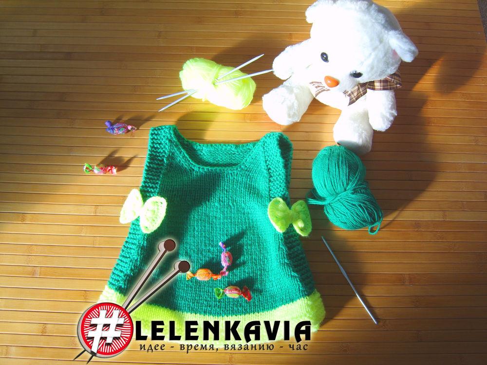 вязание, для девочки, леленька, сарафан