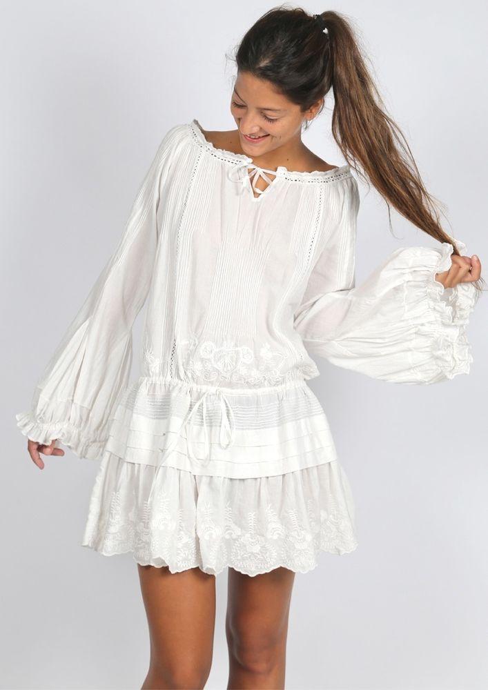 Белое бохо, или Шикарная одежда для королевы летнего пляжа, фото № 8
