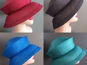 Складные соломенные шляпки, новые цвета | Ярмарка Мастеров - ручная работа, handmade