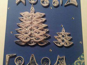 Мастерим своими руками открытку «С Новым годом!». Ярмарка Мастеров - ручная работа, handmade.
