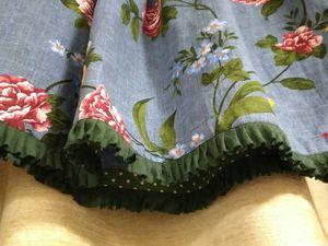 Новая работа - юбка из рогожки.. Ярмарка Мастеров - ручная работа, handmade.