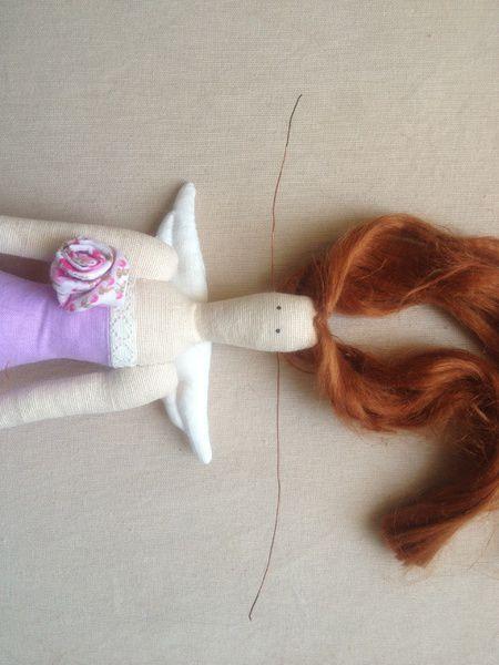 Прическа хвост обмотанный волосами