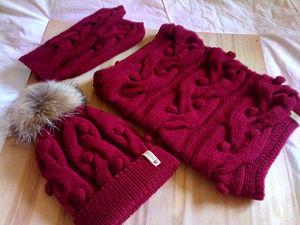 В наличии появился вязаный комплект шапка, снуд и варежки. Ярмарка Мастеров - ручная работа, handmade.