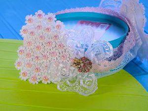 Видео мастер-класс: делаем повязку из фетра и кружев для новорожденной малышки. Ярмарка Мастеров - ручная работа, handmade.