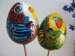 Kids Craft: Easter Eggs Painted like Budgerigas. Livemaster - handmade