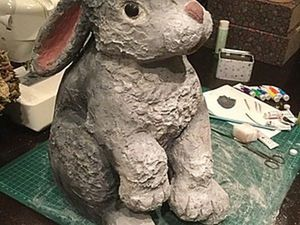 Creating a Garden Rabbit out of Foam. Livemaster - handmade