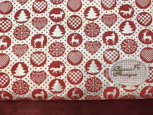 Новогодние ткани для ваших работ. Ярмарка Мастеров - ручная работа, handmade.