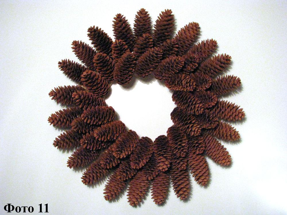 Мастерим Рождественский венок из еловых шишек, фото № 12