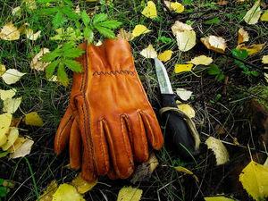 Пошив рабочих перчаток из натуральной кожи. Ярмарка Мастеров - ручная работа, handmade.