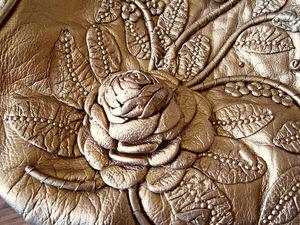 Золотая сумочка из натуральной кожи | Ярмарка Мастеров - ручная работа, handmade