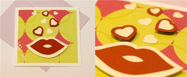 открытки ручной работы, любовь