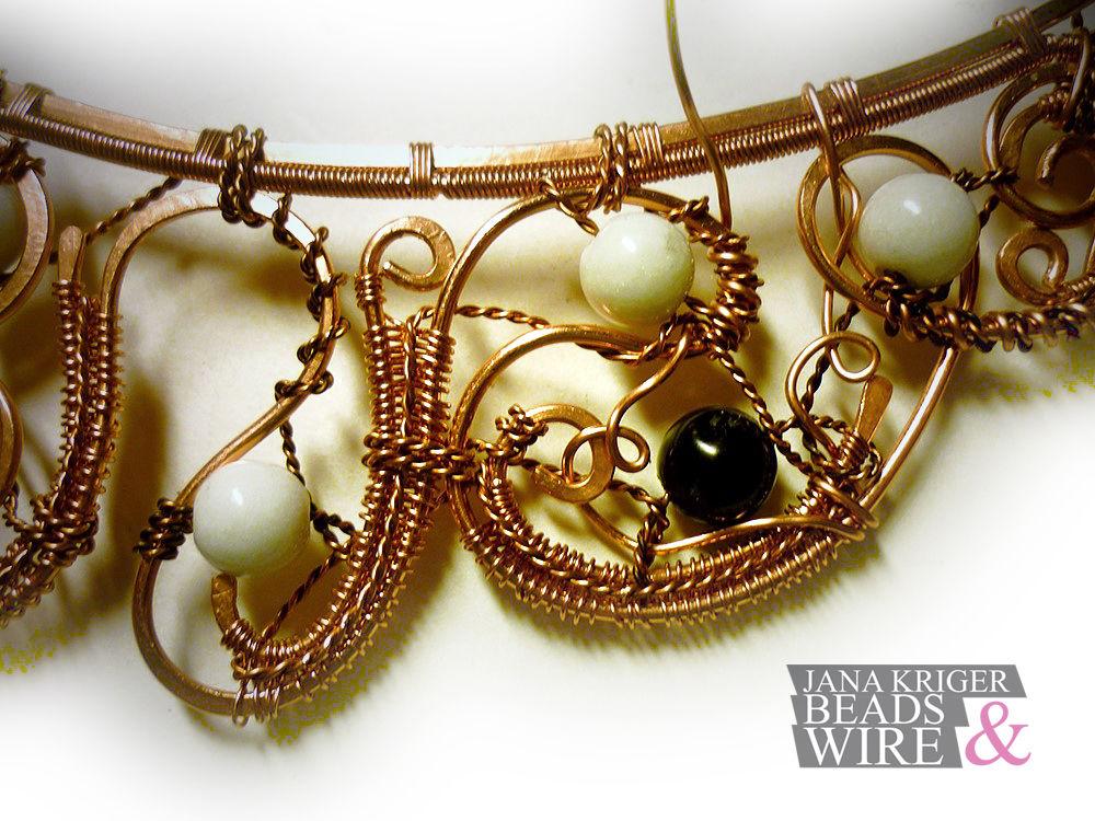 Мои Маленькие Истории Wire Wrap. Часть 3 - Колье., фото № 16