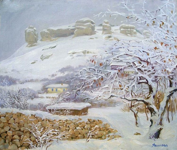 горы картины художников