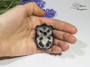 Брошки Ёжики. Ярмарка Мастеров - ручная работа, handmade.