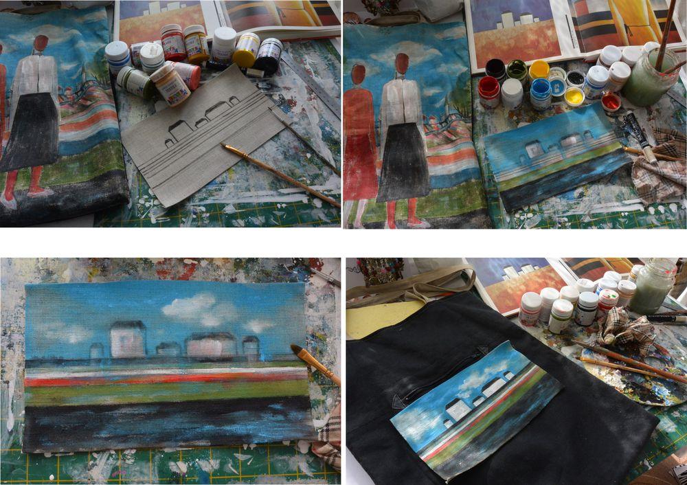 Реставрация льняной сумки., фото № 3
