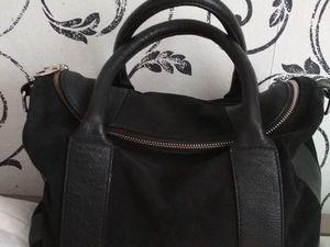 Black genuine leather handbag МЕХХ. Ярмарка Мастеров - ручная работа, handmade.