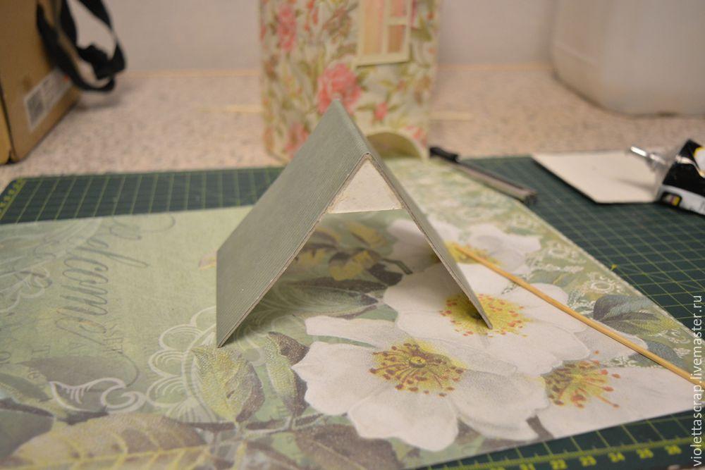 Мастер-класс: изготавливаем дуэт из чайных домиков с конфетницей, фото № 12